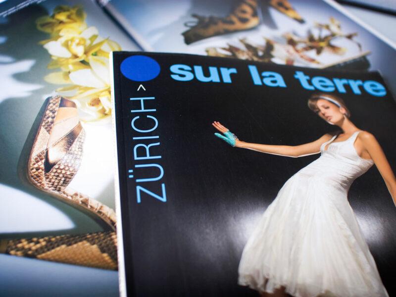 Genève création maquette magazine Zurich sur la Terre