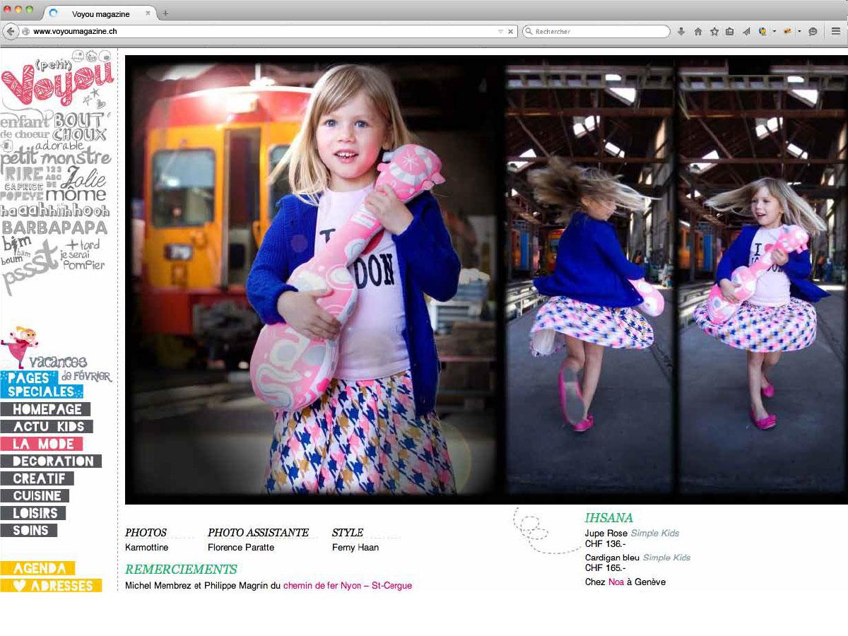 Nyon webdesign site internet Voyou Magazine
