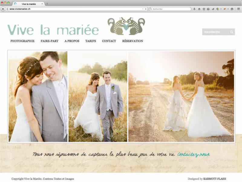 Rolle création site internet responsive Vive la Mariée