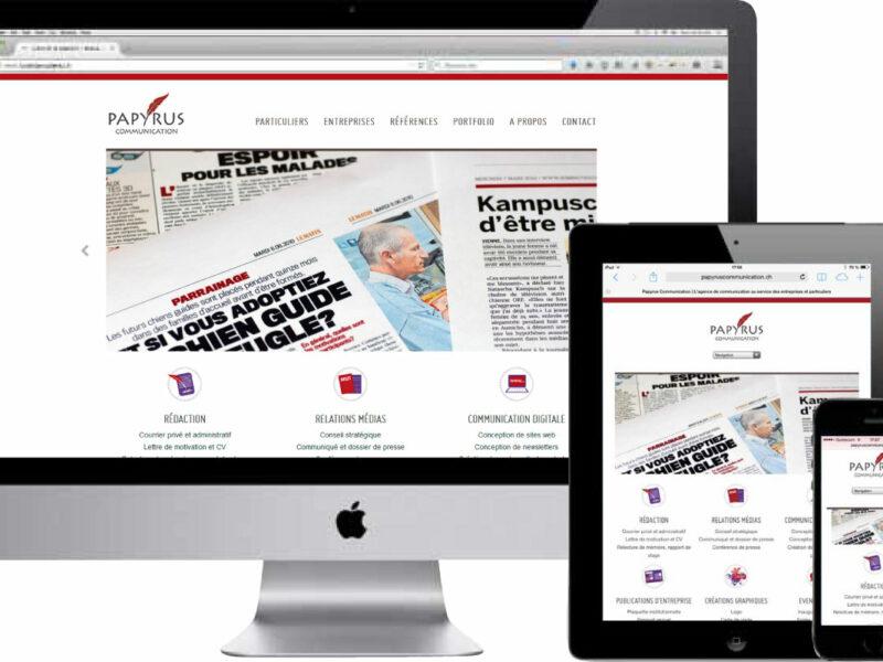 Echallens création site internet responsive Papyrus Communication
