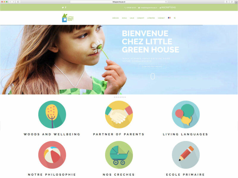 Morges création site internet responsive Little Green House