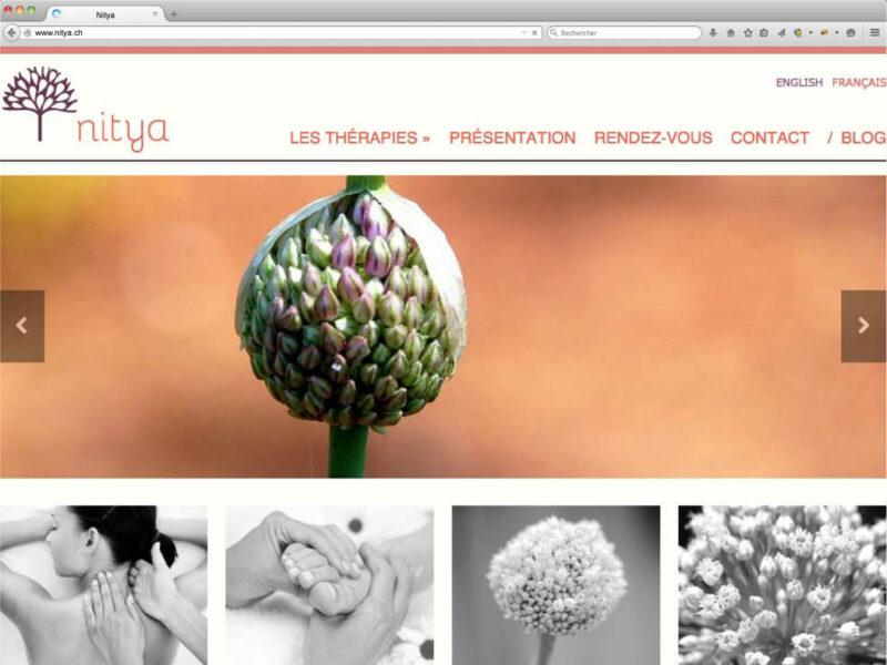 Nyon création site internet responsive Nitya