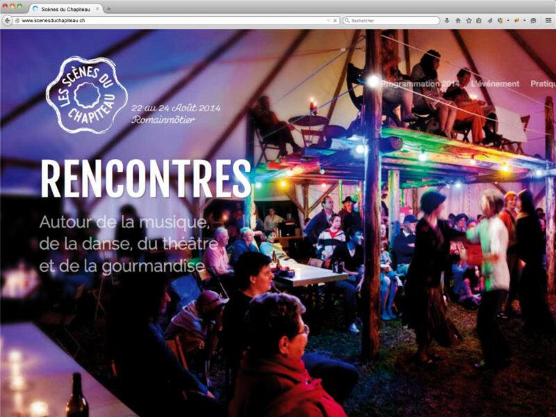 Création site internet du festival des Scènes du Chapiteau