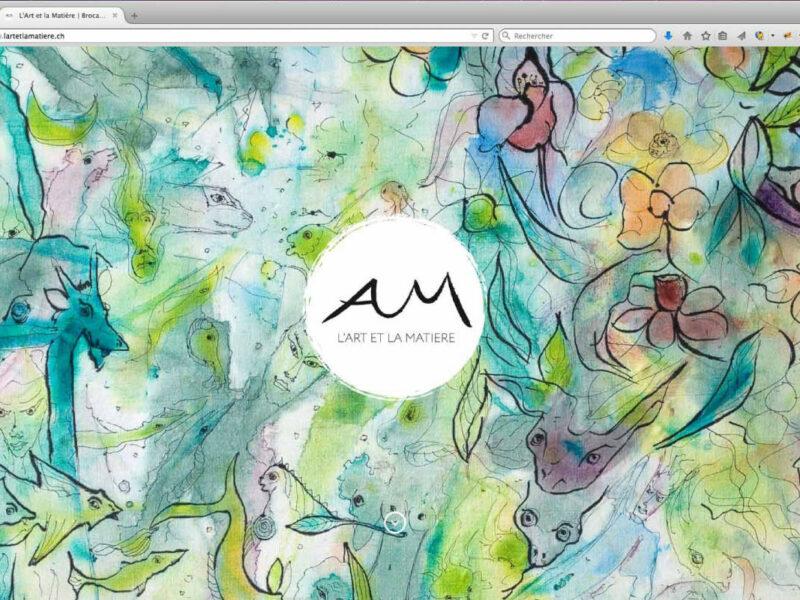 Webdesign site internet l'Art et la Matière