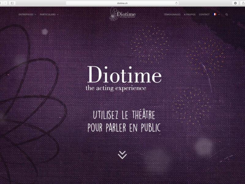 Lausanne création site internet Diotime