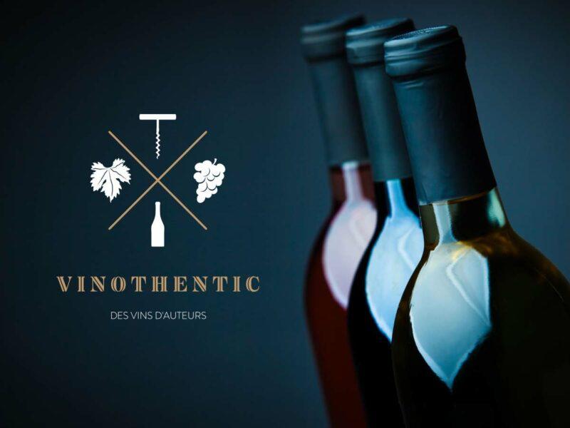 Graphiste Nyon création logo Vinothentic