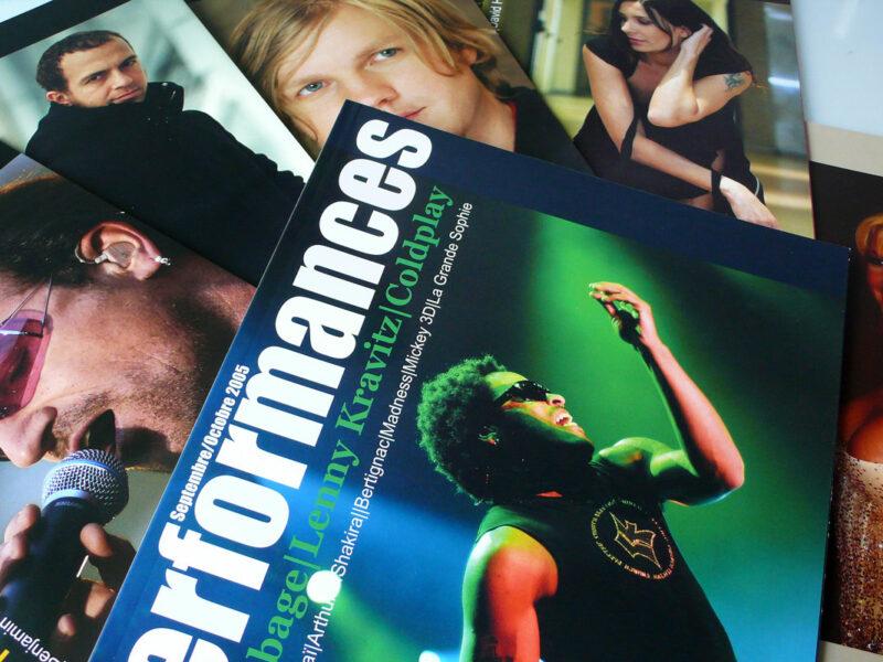 Création maquette magazine de musique Performances