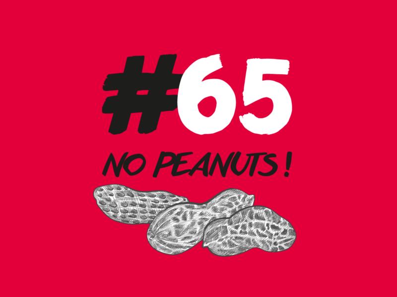 Nyon création logo 65nopeanuts!