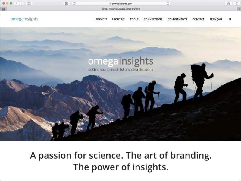 Webdesign Gland création du site internet Omega Insights