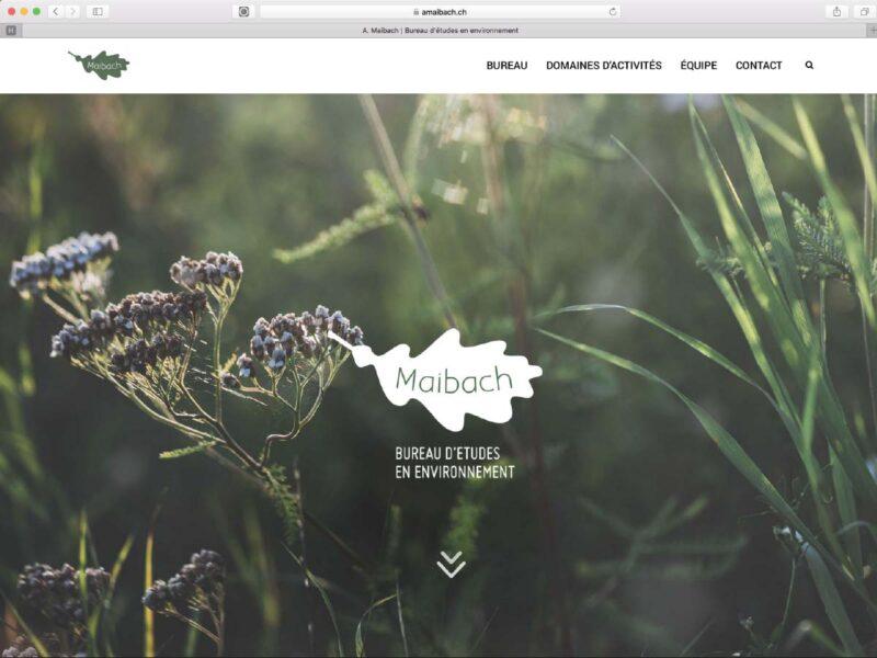 Refonte du site internet du bureau d'études en environnement A. Maibach Sàrl à Oron-la-Ville