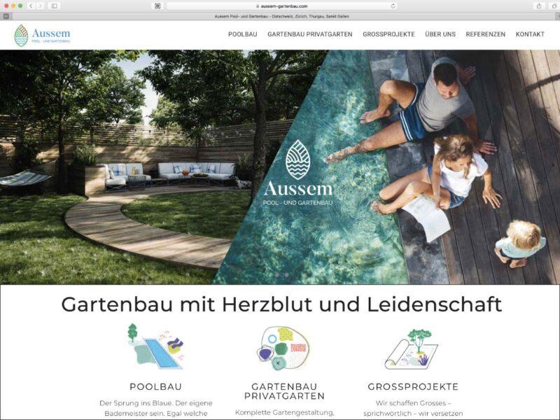 Refonte du site internet de l'entreprise de paysagiste Aussem Gartenbau