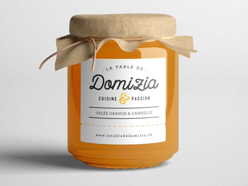 Création du logo de la table d'hôte de Domizia