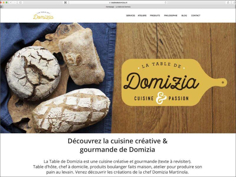 Création du site internet de la table d'hôte de Domizia
