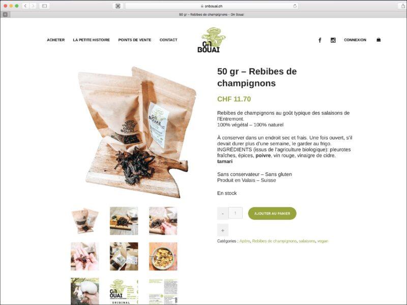 Bagnes création shop de vente en ligne OnBouai